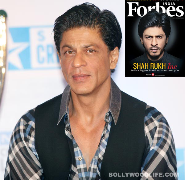 Shahrukh Khan beat Salman Khan to top the Forbes India Celebrity 100 list