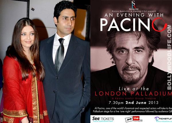 Aishwarya Rai Bachchan and Abhishek Bachchan to spend an evening with The Godfather star Al Pacino?