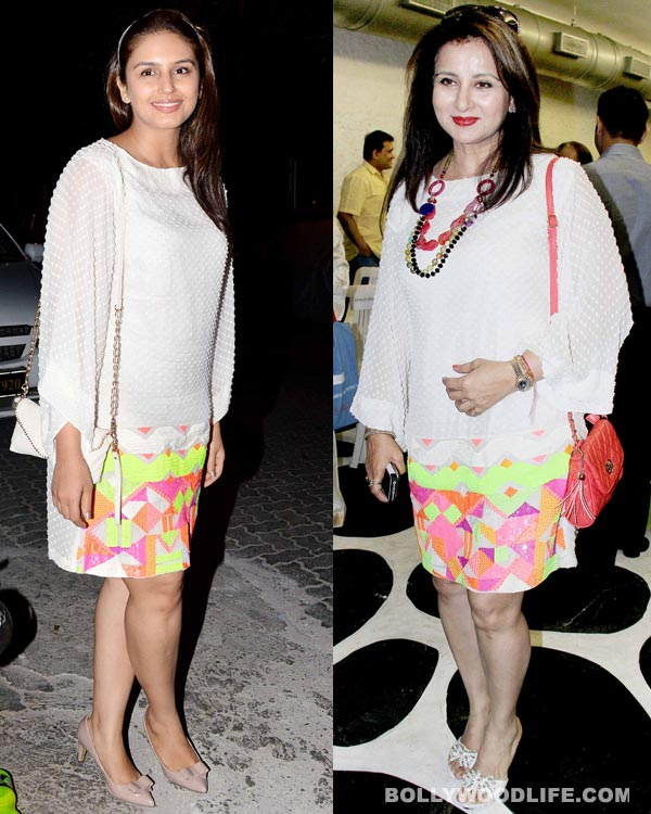 Huma Qureshi and Poonam Dhillon spotted wearing same outfit!