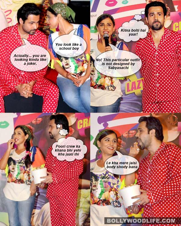 Vidya Balan and Emraan Hashmi's hilarious style statement: View pics