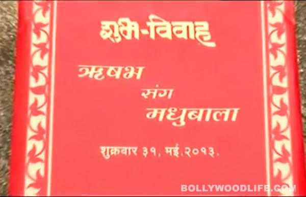 Madhubala Ek Ishq Ek Junoon: Have you received RK and Madhu's wedding invite?