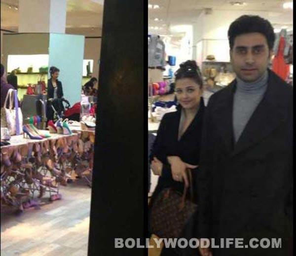 Aishwarya Rai Bachchan and Abhishek Bachchan go shopping in London