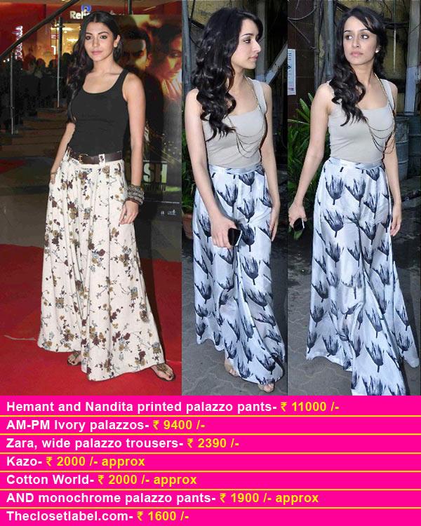 Anushka Sharma and Shraddha Kapoor in palazzos – How cool are they?