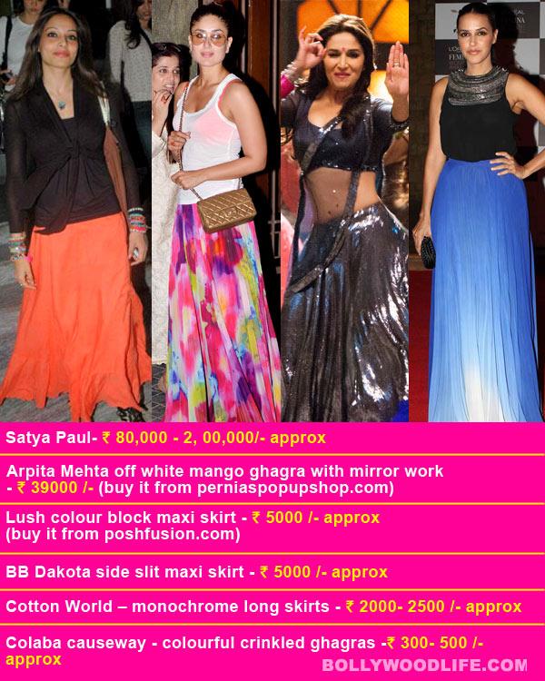 Want Madhuri Dixit, Kareena Kapoor or Neha Dhupia's sexy ghagra look?
