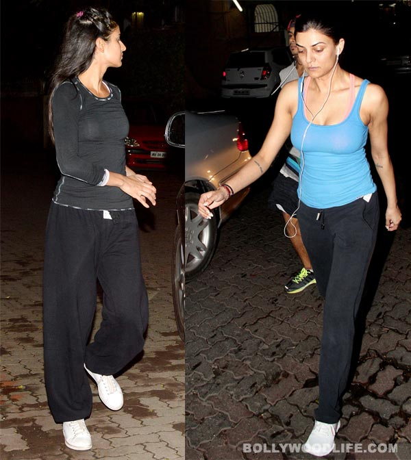 Katrina Kaif and Sushmita Sen get all sporty!