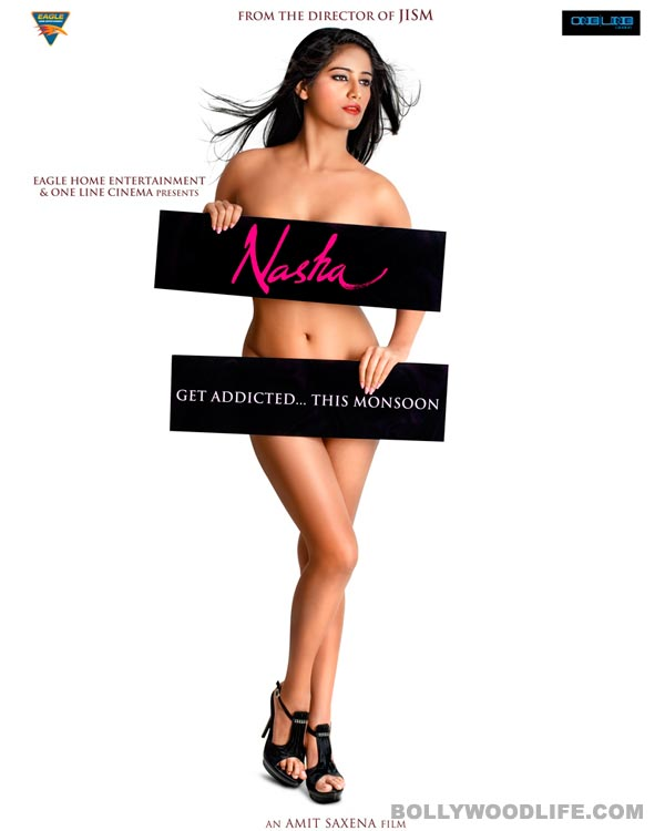 Nasha poster: Poonam Pandey hides her assets with placards!
