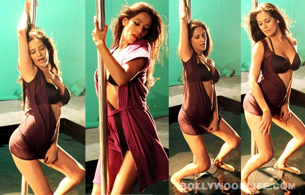 Poonam Pandey pops painkillers to do pole dance number Laila: Watch video!