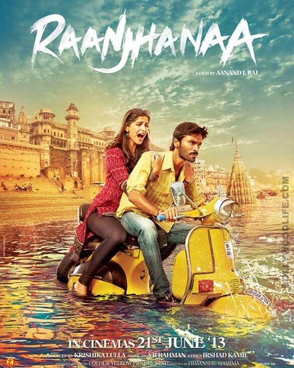 Raanjhanaa new poster: Sonam Kapoor and Dhanush in deep waters