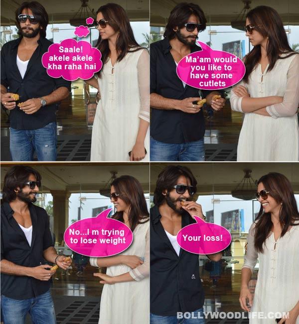 Ranveer Singh has Deepika Padukone in splits!