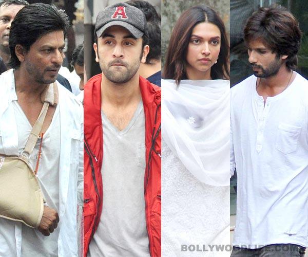 Priyanka Chopra's father's funeral: Shahrukh Khan, Deepika Padukone, Shahid Kapoor, Ranbir Kapoor, Ranveer Singh attend - view pics