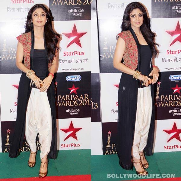Shilpa Shetty Kundra's look at Star Parivaar Awards 2013: Blah or gorgeous?