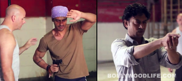Arjun Rampal and Irrfan Khan train for action sequences for D-day: Watch video