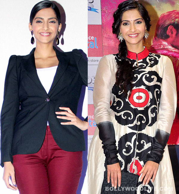 Sonam Kapoor dazzles in cropped pants, or traditional outfit?