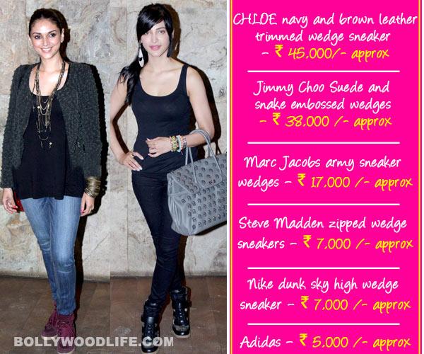 Shruti Haasan and Aditi Rao Hydari go smart and sassy in cool wedged sneakers!