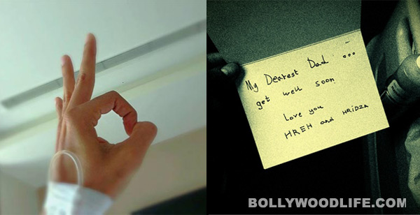 Hrithik Roshan gets a cute get well soon card from sons Hrehaan and Hridhaan