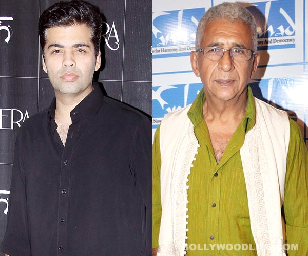 Will Karan Johar do justice to a role meant for Naseeruddin Shah?