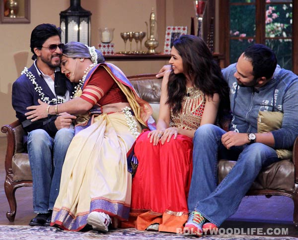 Shahrukh Khan and Deepika Padukone on the sets of Comedy Nights With Kapil: View pics!