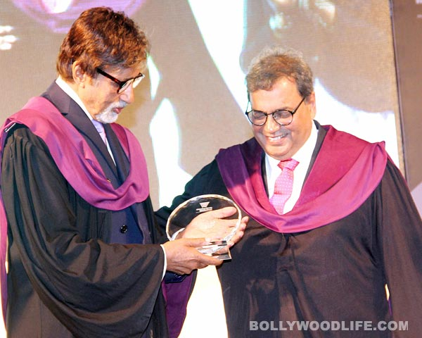 Amitabh Bachchan honoured by Subhash Ghai's Whistling Woods International: see pics
