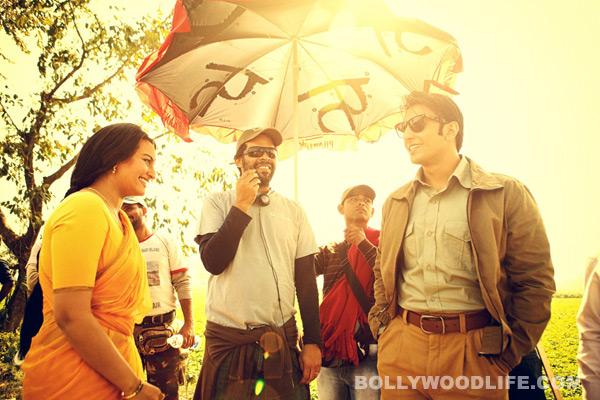 Lootera behind the scene stills: Ranveer Singh, Sonakshi Sinha and Vikramaditya Motwane have a ball!
