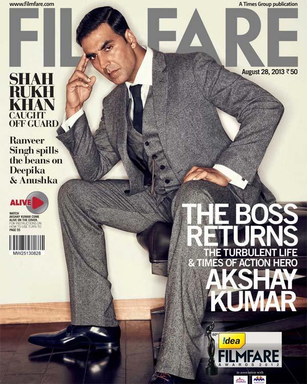 Do you like Akshay Kumar as Filmfare's coverboy this fortnight?