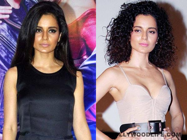 Astonishing Straight Vs Curly Hair What Suits Kangna Ranaut Better Short Hairstyles Gunalazisus