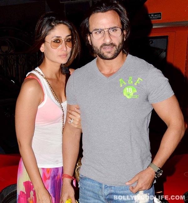 Why is Kareena Kapoor stopping Saif Ali Khan from kissing onscreen?