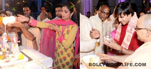 Janmashtami 2013: Shilpa Shetty Kundra, Vivek Oberoi play doting parents to their little Krishnas! View Pics!