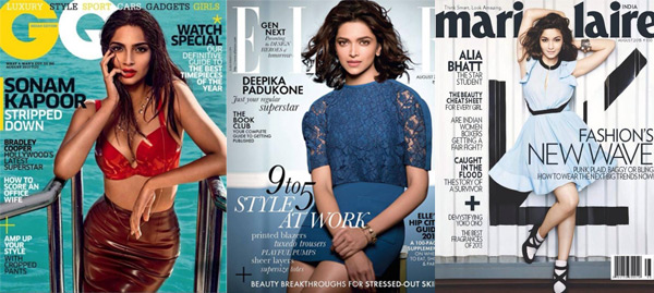 Deepika Padukone, Sonam Kapoor or Alia Bhatt: Who is the most rocking cover chick?