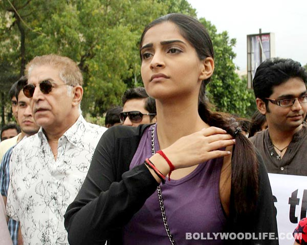 Why did Sonam Kapoor get infuriated at a protest rally?