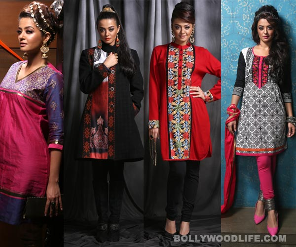 Surveen Chawla makes winter trends and colours come alive!