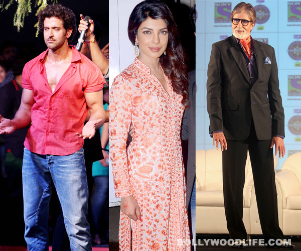 CELEB SPOTTING: Priyanka Chopra's snake bite, Amitabh Bachchan's fancy shoes, Hrithik Roshan's chubby cheeks!