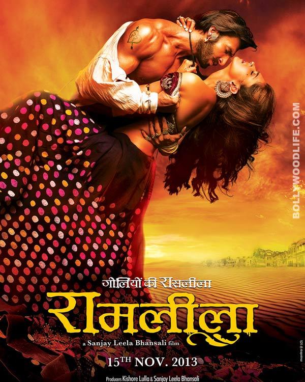 Ram-Leela poster: Ranveer Singh and Deepika Padukone strike a steamy pose!