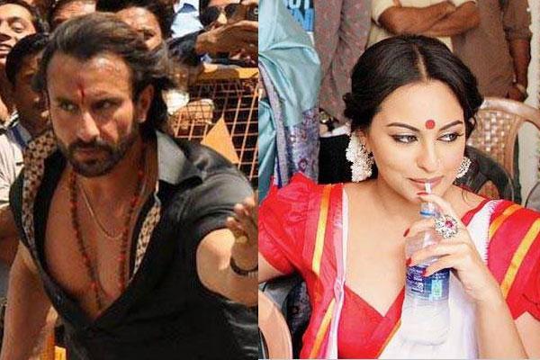 Bullett Raja on the sets pics: Saif Ali Khan looks rugged, Sonakshi Sinha turns Bong belle