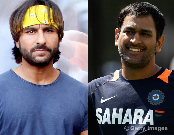 Will Saif Ali Khan get into MS Dhoni's shoes?