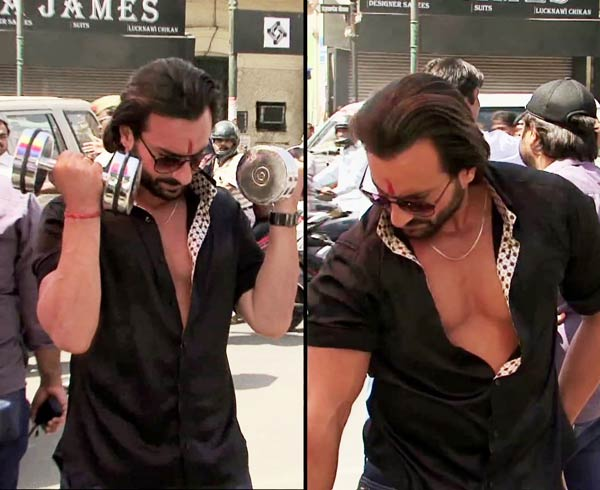 What was Saif Ali Khan's obsession on the sets of Bullett Raja?