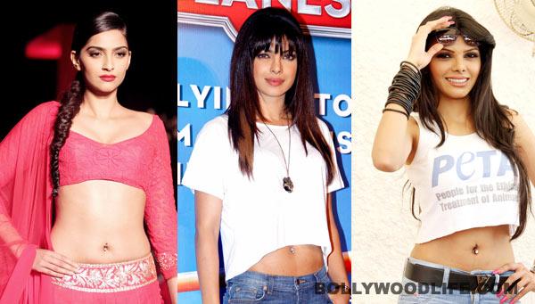 Priyanka Chopra, Kangna Ranaut, Sherlyn Chopra: Who has the hottest belly button piercing?
