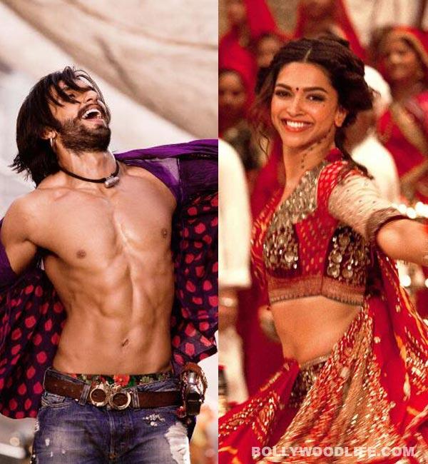 Ram Leela new stills: Deepika Padukone's red ghagra & Ranveer Singh's hot abs!