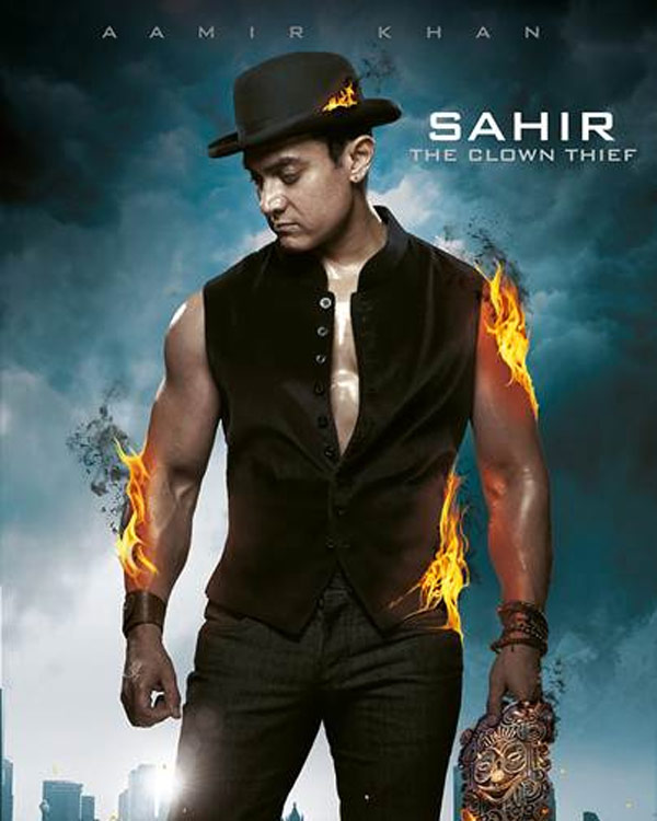 Will Aamir Khan's Sahir - The Clown Thief avatar - from Dhoom:3 steal your heart? - watch video!