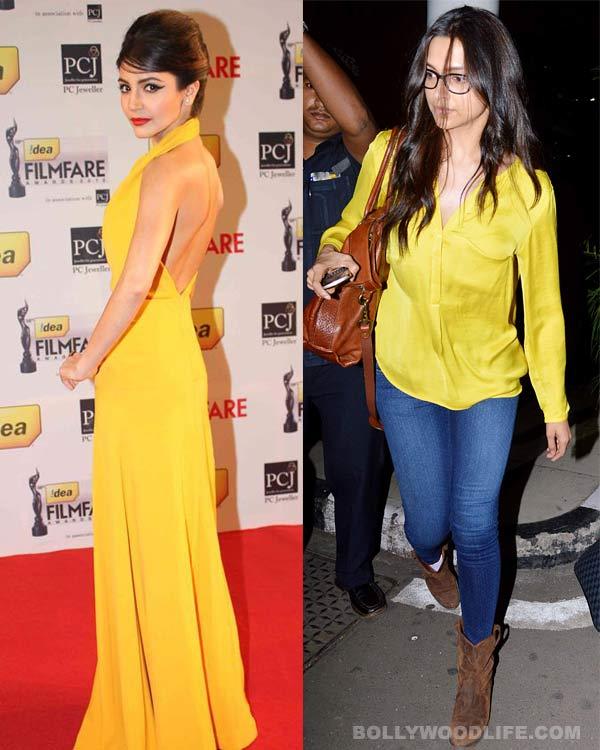 Navratri special: Deepika Padukone and Anushka Sharma dazzle in yellow!