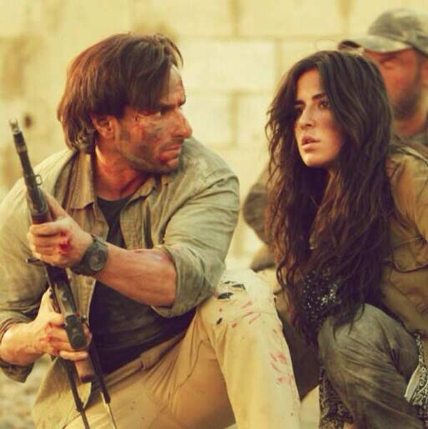Phantom on the sets pictures: Saif Ali Khan and Katrina Kaif in action mode!