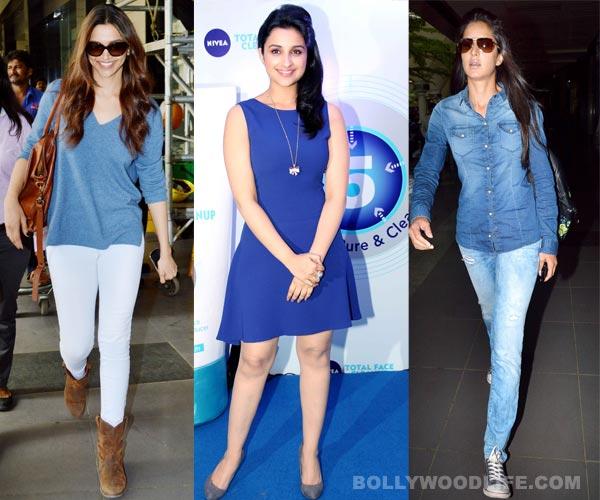 Navratri special: Katrina Kaif, Deepika Padukone and Parineeti Chopra look beautiful in blue!