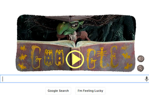 halloween special play the google doodle game and become a witch bollywoodlifecom
