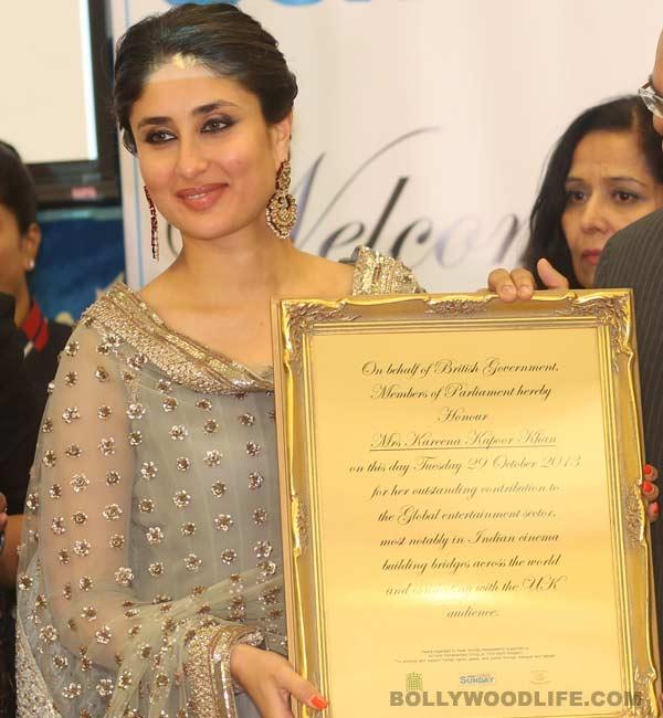 Kareena Kapoor Khan honoured at the House of Commons