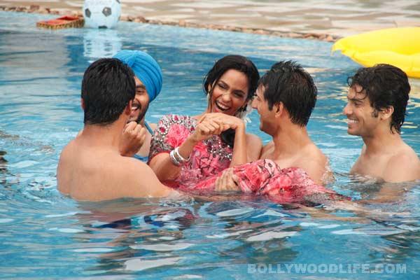 The Bachelorette India: Mallika Sherawat gets naughty in the pool with Karan Sagoo and Vijay Singh!