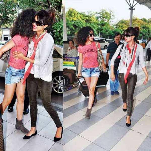 Priyanka Chopra and Kangna Ranaut hug each other - See pic!