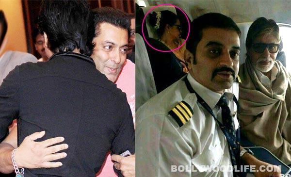 Amitabh Bachchan photographed with Rekha & Shahrukh Khan hugging Salman Khan: Bollywood's most awkward moments