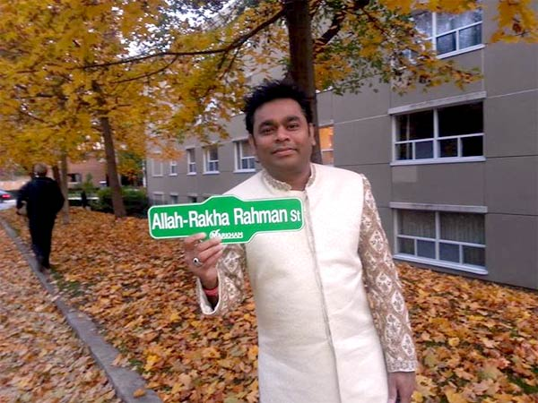 AR Rahman has a street named after him in Canada!