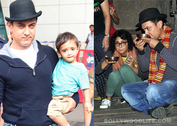 Aamir Khan returns with son Azad after a holiday with wife Kiran Rao in Assam! View pics!