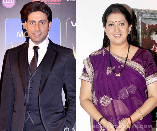 Isn't Abhishek Bachchan too old to play Smriti Irani's son?