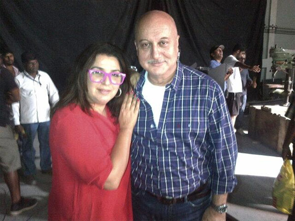 Anupam Kher meets the cast of Happy New Year!